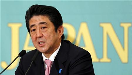 LDP genel başkanı Abe. Başbakanlığın en güçlü adayı (foto: Reuters/internet)
