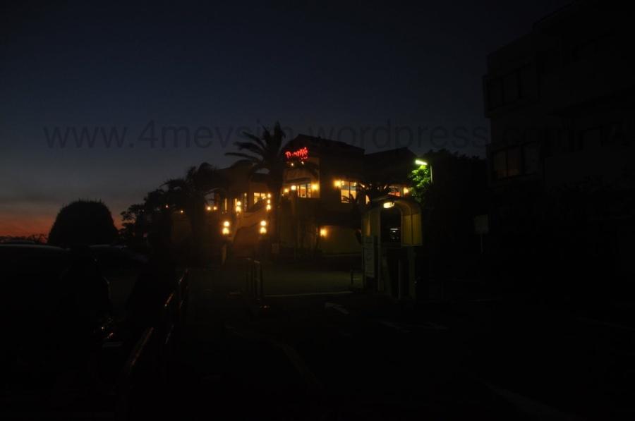 Morito Plajından Fuji Dağına bakan Denny's