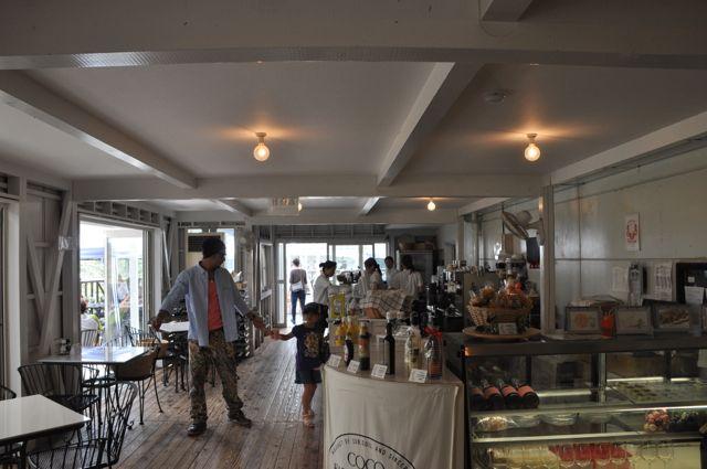 Cafe'nin iç kısmı