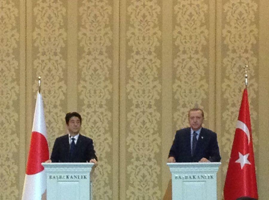 Başbakan Erdoğan, Japonya başbakanı Abe ile    (Mayıs 2013)