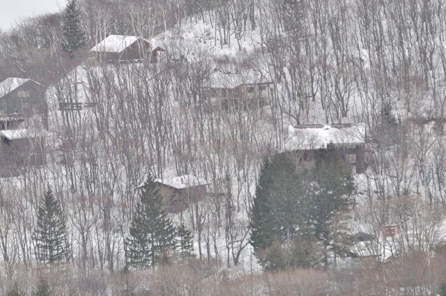 Yamaçlarda dağ evleri