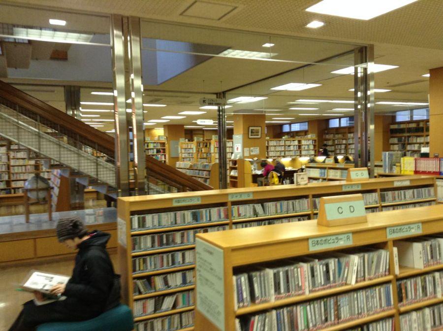 Chuo kütüphanesinin içi