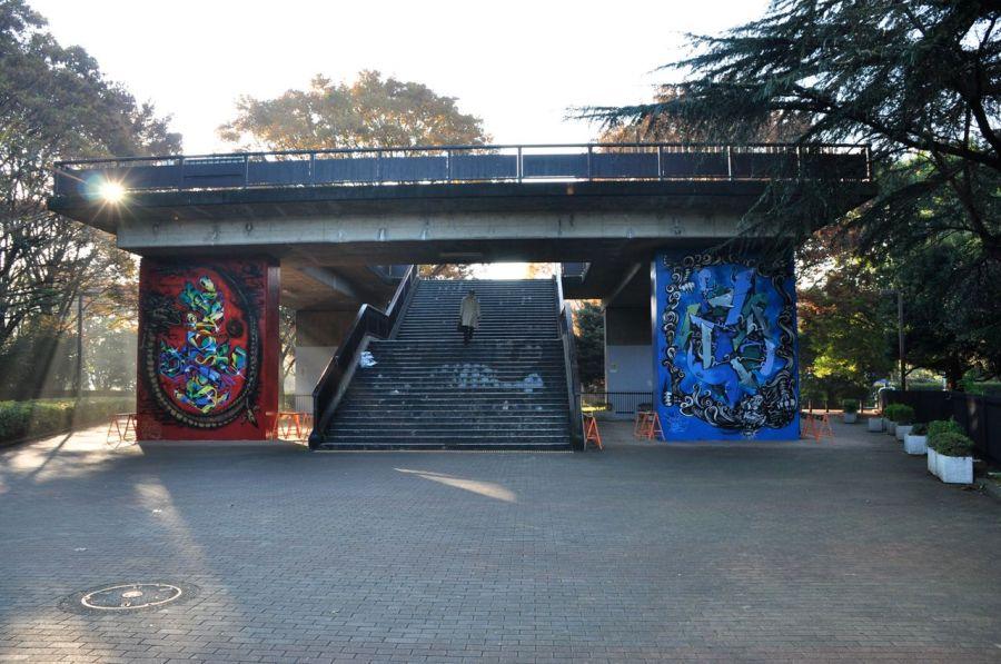 üst geçit graffiti
