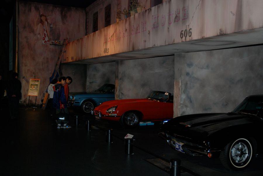 araba garajları bile var