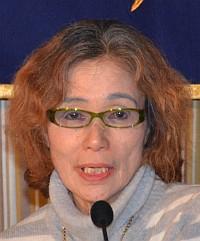Kenji Goto'nun annesi bu sabah (foto: FCCJ)