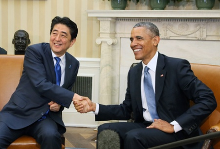Abe ve Obama (©Foto: Japonya Başbakanlık)