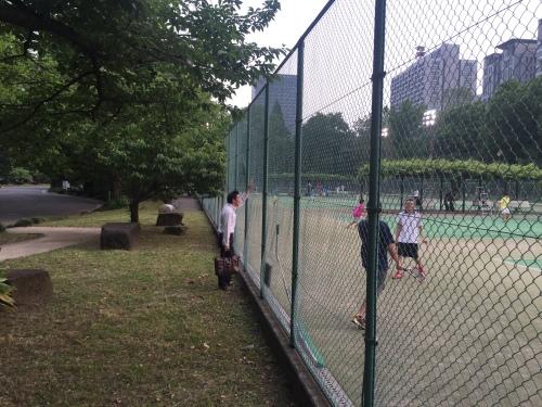 Hibiya parkındaki tenis kortları