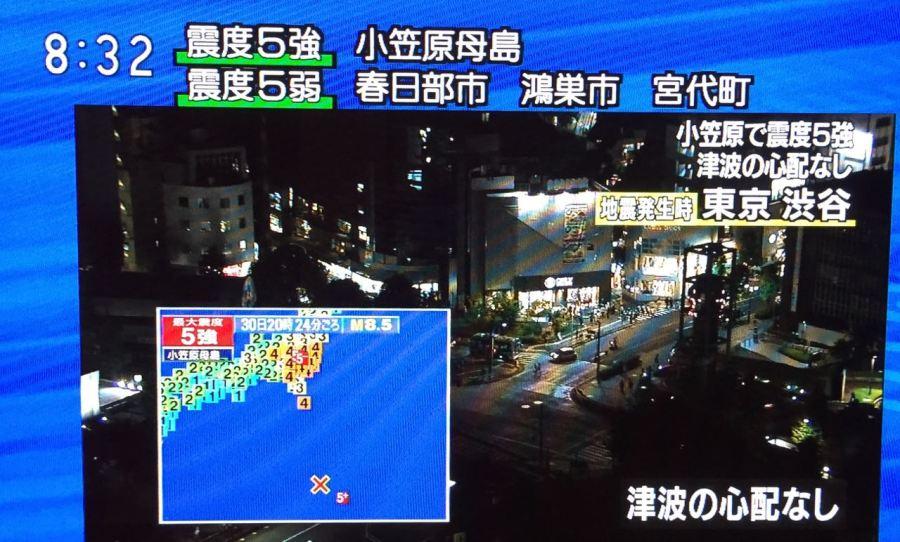 Deprem anı televizyonda