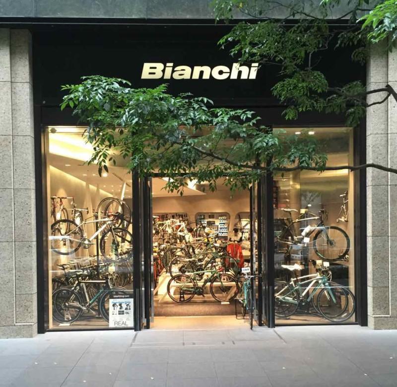 Tokyo'nun merkezinde Bianchi bayisi