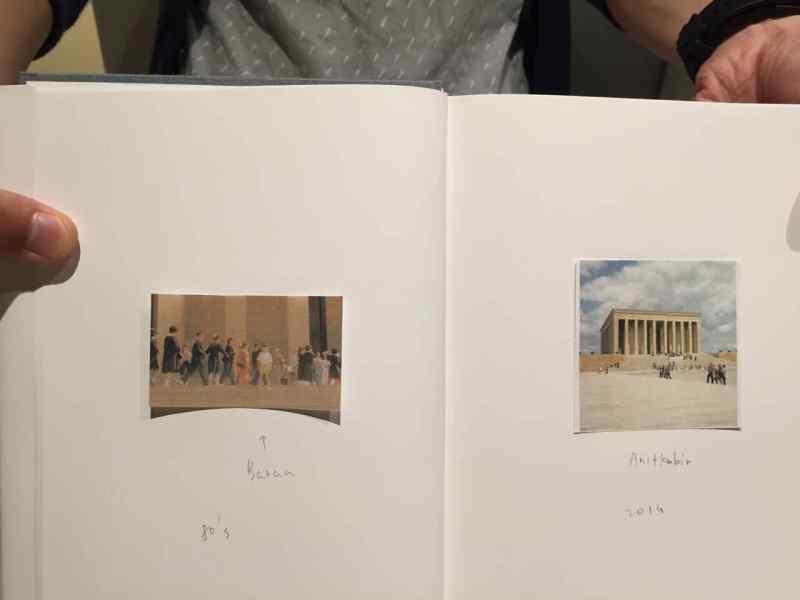 """Soldaki Anıt kabir gezisi 80lerden. """"Baran"""" diye not düşmüş resimdeki çocuğa"""