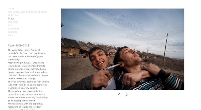 Gene Shoei'nin web sitesinden bir ekran kopyası