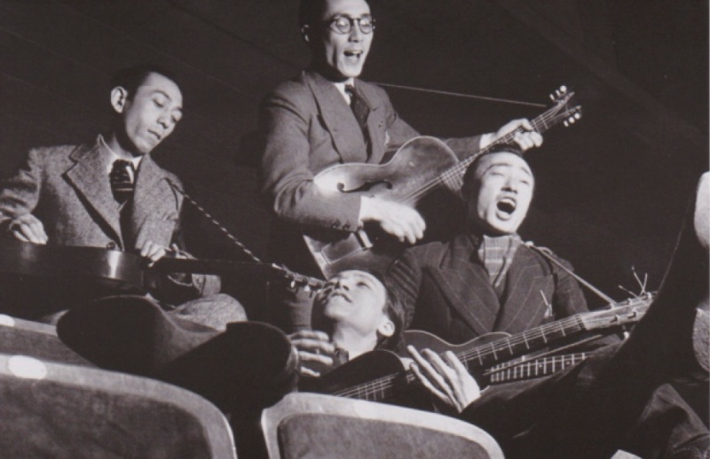 Asakusa'da müzisyenler 1936