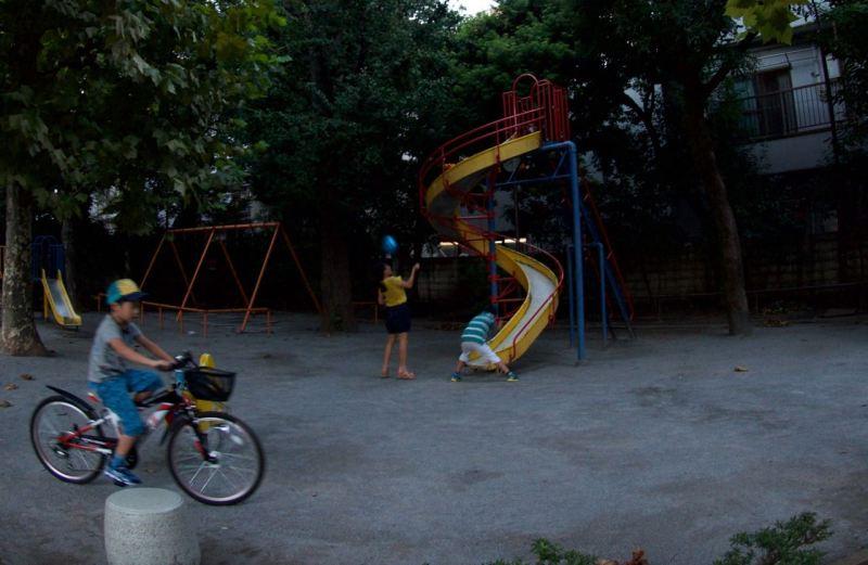 Parkta oynayan çocuklar