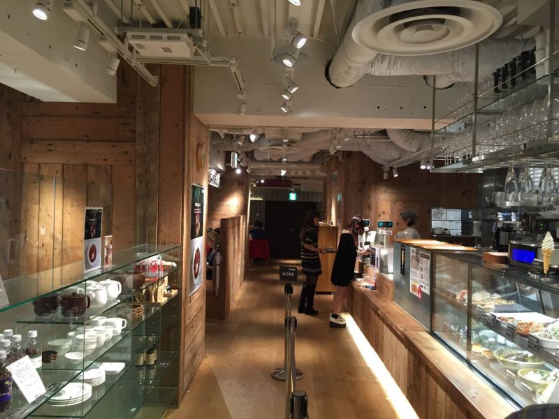 Muji Cafe'nin içi