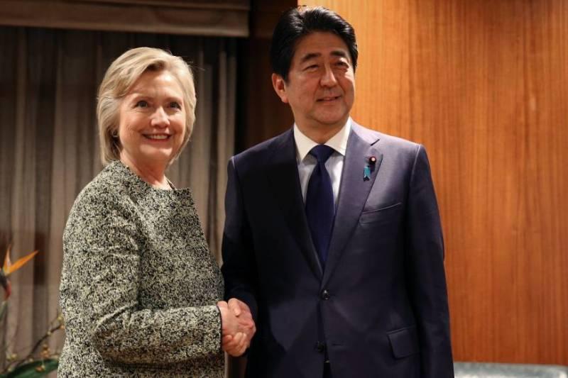 Eylül ayında Abe Demokrat Parti başkan adayı Clinton ile görüşmüş ama Donald Trump ile görüşmemişti