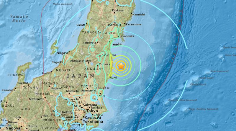 Depremin merkez üssü ve etki alanını belirten harita